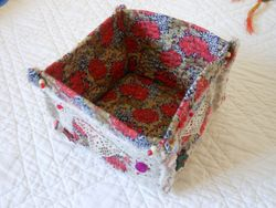 A fabric container