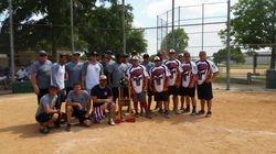(l-r) 2nd Place winners Austin Bomberos & 1st Place Austin Heat