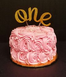 "Pink Rosette ""One"""
