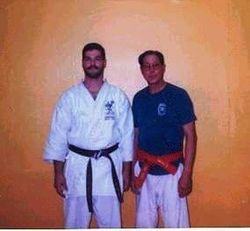A young Sensei Morales with Professor Wally Jay