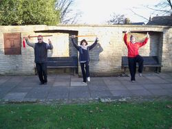 Winter Tai Chi Sword practice in the park