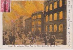 Great Christchurch Fire 1908