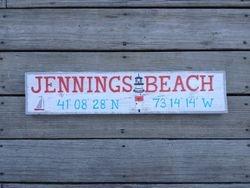 Jennings Beach Sign