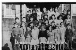 Upper Corner School in Penn Township, 1937-1938