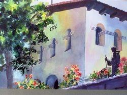 Father Serra statue @ San Luis Obispo Mission