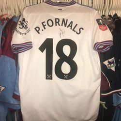 Pablo Fornals worn and signed away FA Cup shirt
