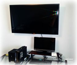 "A 47"" Flat screen TV wall mount installation"