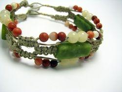 Gemstone Loaded Macrame Bracelet