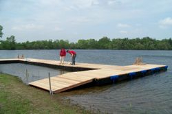 ...to build this magnificent dock!!