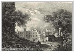 Dudley castle Courtyard. c1836