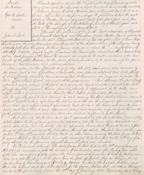 Property Deed from George W. Isett to John A. Isett - Page 1