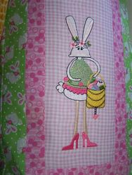 Bettys Original Embroideries Long Legged Bunnies