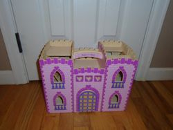 Melissa & Doug Fold and Go Wooden Castle Dollhouse - $20