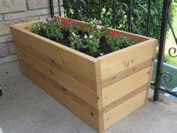 pine and cedar flower box
