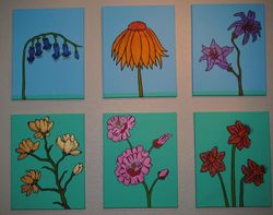 Flowers (6 Canvas Set)