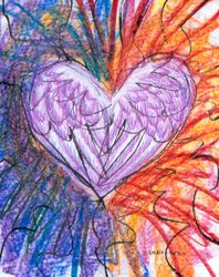Angel Love Radiance, Mixed Media, 18x24, Carrie MaKenna 1998