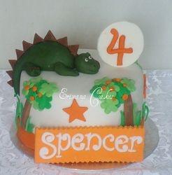 Dinosaur/ dragon Themed Cake (B123)