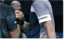 Tomas Berdych wears HYDROGEN