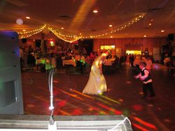 Bride and her 1st dance with son after wedding