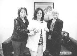 Family honors their mother, Pat Endris with a donation to Lawrence County Cancer Patient Services.