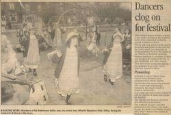 Dancers clog on for festival