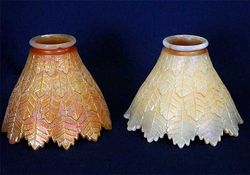 Leaf Tiers lamp shades - marigold on moonstone