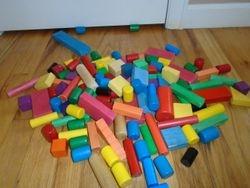 Wooden Building Blocks- Quantity 120 - $30