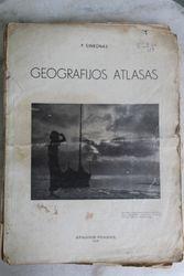Geografijos atlasas. 1938 m. Kaina 8 Eur.