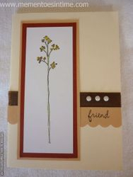 Friendship Flower Card