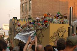 Krewe Float in Friday's Parade