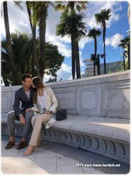 Models Tomas Berdych and wife Ester Satorova