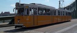 Ganz Tram leaving the Liberty Bridge