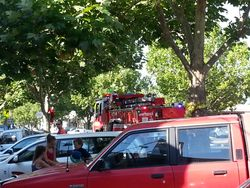 Father Christmas on the CFA Truck