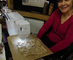Sharon Osborne's stitching
