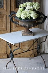 SOLD  #22/230 Pastry Table marble top SOLD