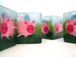 Small Square Piggies Tealight Holders