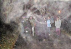 Haze surrounds the group!