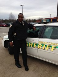 Pastor Gillespie in my Sheriff uniform