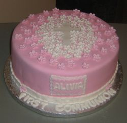 Pretty Communion Cake