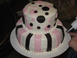 Circles and Stripes Cake