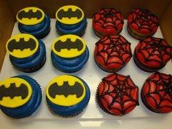 super hero cupcakes $3.25 each