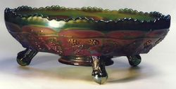 Butterfly and Berry Float bowl, green