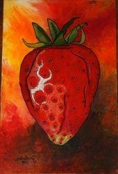 Reverse Art: Strawberry 3