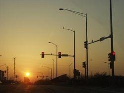 Sun With Traffic Lights