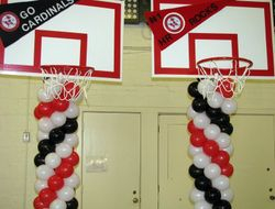 March Madness Hoops Balloon Sculptures