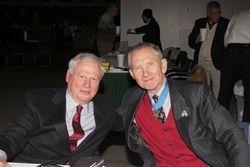 Greg Sims and Maj. Gen. Livingston