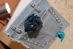 Embellished Denim Guest Book & Denim Pen