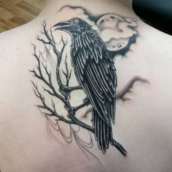 Happy 16th Birthday to Kaylie Today. Did this Badass Crow as her First Tattoo!!! Her Dad Tom could not have been more proud or excited ~ I think even more than she was actually