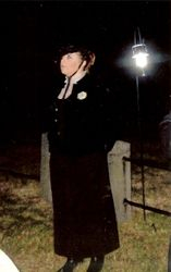 Lizzie, at the grave of her Lawyer,