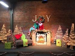 Scruffy the Elf and his helper (and wife), Ashley!